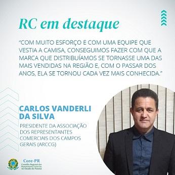 Carlos Vanderli da Silva é destaque na representação comercial dos Campos Gerais | Core PR
